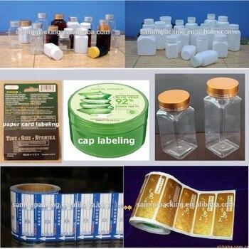аппликатор этикеток   Полуавтоматический аппликатор этикеток самоклеющиеся Плоские наклейки для бутылок Этикетировочная Машина