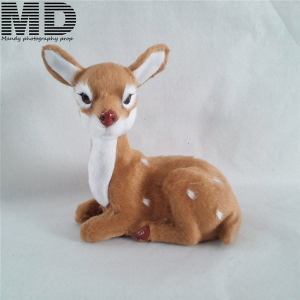 Deer toy doll,Christmas children gift,newborn photography backdrop deer doll