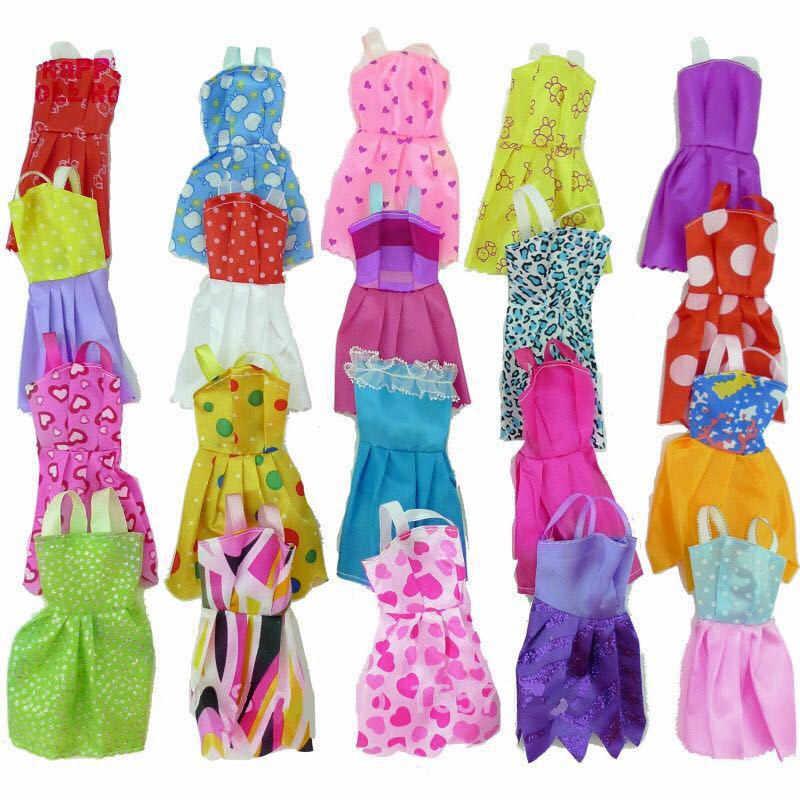 Случайный 10 шт смешанных видов ручной работы различные красочные модные платья Милая классная Одежда для кукол аксессуары девушка подарок игрушка