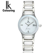 2015 ik for the trend of the female form butterfly buckle women's quartz watch ceramic watches