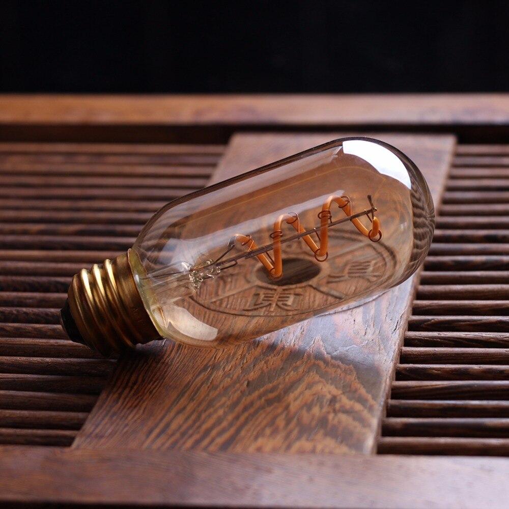 Светодиодный светильник с регулируемой яркостью в стиле ретро, лампа Эдисона E27 220 В 3 Вт, Золотая спиральная нить ST64 A19, светодиодный светиль...