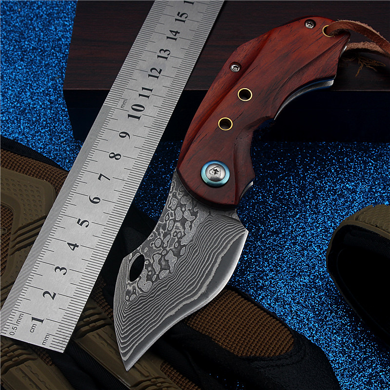 2017 New Damascus Outdoor Folding Knife Self-defense High Hardness for Sharp Wilderness Survival Fixed Tactical Combat Knives stenzhorn new goods wei explorer outdoor small straight knife self defense survival camping with high hardness for sharp fruit