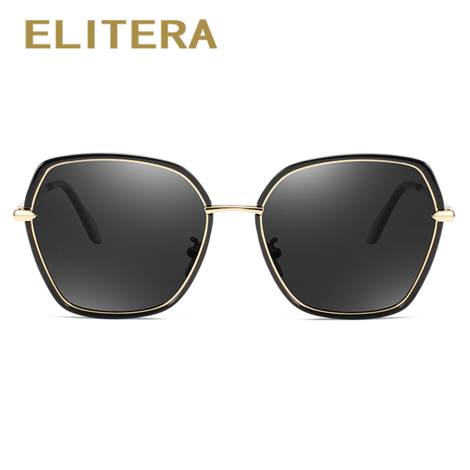 ELITERA Brand Design Men Women Sunglasses Polarized Fashion Sun Glasses Square Vintage Retro Female Eyewear