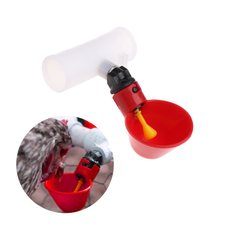 Poultry Automatic Water Drinking Cup/Tube Plastic Drinker Chicken Bird Feeder