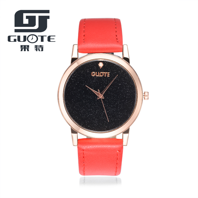 2020 New Fashion GUOTE Watches Starry Sky Leather Quartz Watch Women Casual Creative Wrist Watch Relogios Feminino Hours Saat