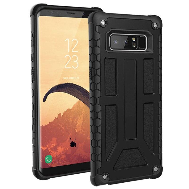Pour Samsung Note 8 Note8 N9500 cas Monarque Plume-Léger Robuste [NOIR] Baisse militaire Testé Téléphone Cas pour s8 plus