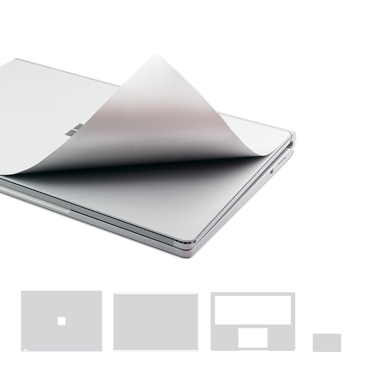XSKN Full Body Stickers For Microsoft Surface Book, 4 In 1 Removable Ultra Thin Vinyl Cover Case Premium Laptop Protective Skins