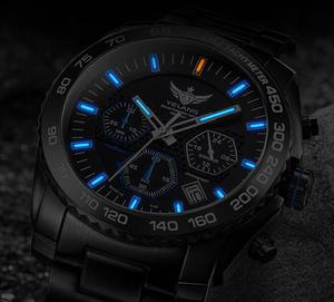 Image 3 - Yelang Men Kinetic Watch Solar Power Drive Tritium Light T100 Japan Movement WR100M Sapphire Date Energy Display Military Quartz
