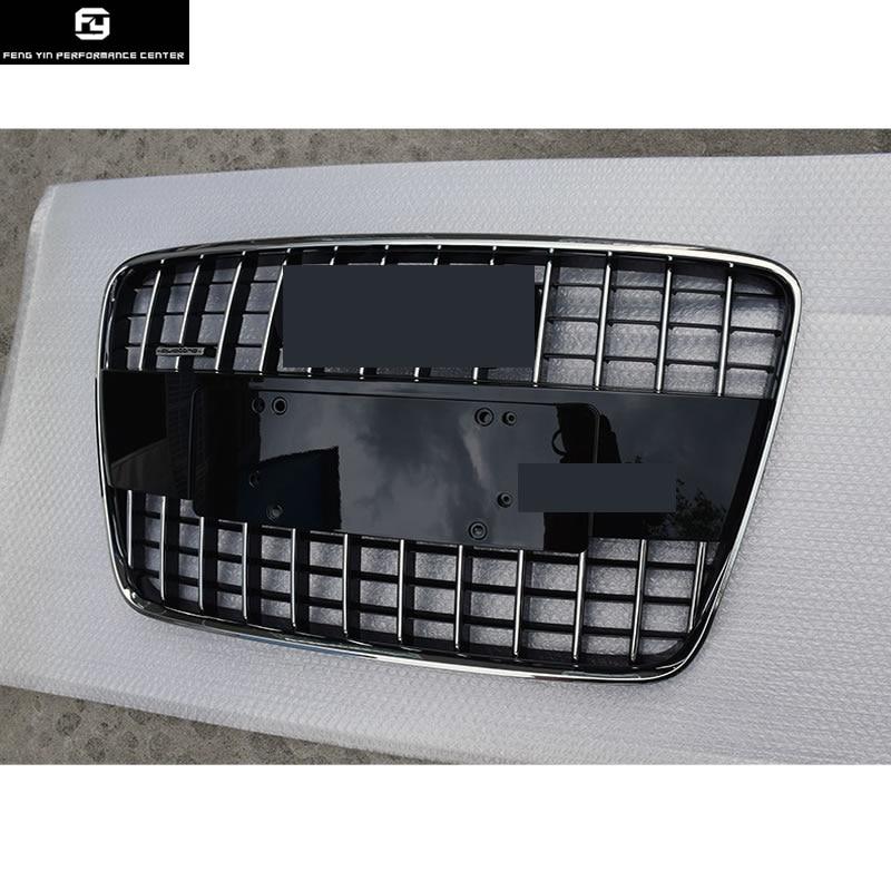 Racing Grills Q7 ABS Grille Avec Quattro Badge Car Front Mesh Grill Pour Audi Q7 2008-2012