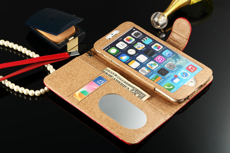 2016 Luxury Gold Diamond Paint Leather Flip Cover For