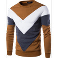 Free shipping new men's casual stitching hedging sweater Korean men with disabilities