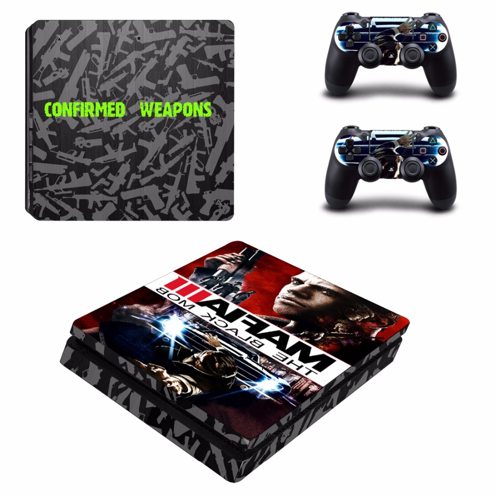Game Mafia III Decal PS4 Slim Skin Sticker For Sony PlayStation 4 Console and Controllers PS4 Slim Skins Sticker Vinyl