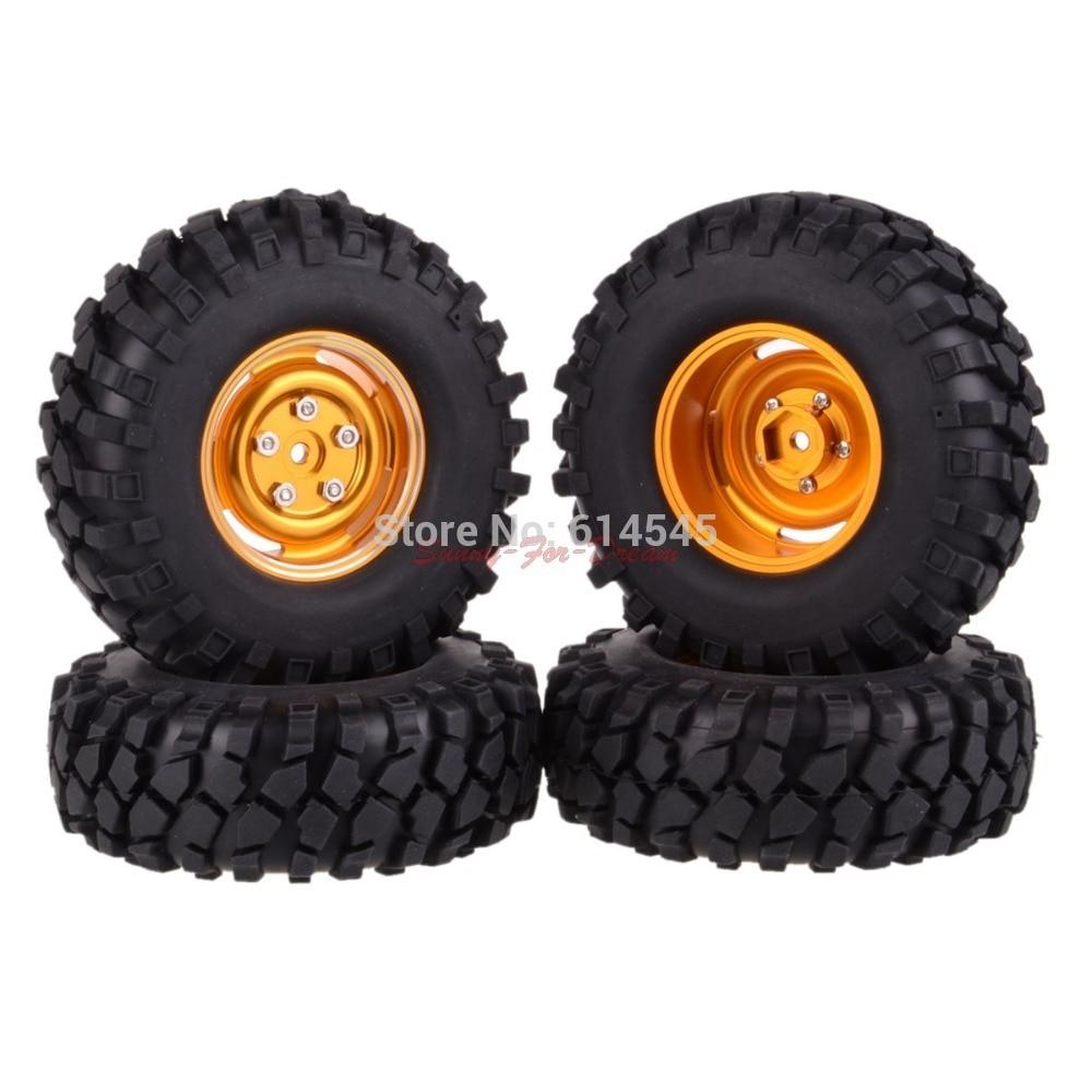 4PCS RC 1/10 Climbing Rock Crawler Metal Wheel Rim & 108 mm Tyre,Tires 104G-7032 4pcs 2 2 rubber tyre tires ax 3021 for rc 1 10 rc off road climbing rock crawler truck