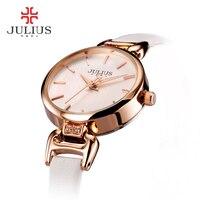2017 JULIUS Fashion Luxury Brand Women Stainless Stell Wristwatches Lady Dress Bracelet Watches Female Clocks Relojes