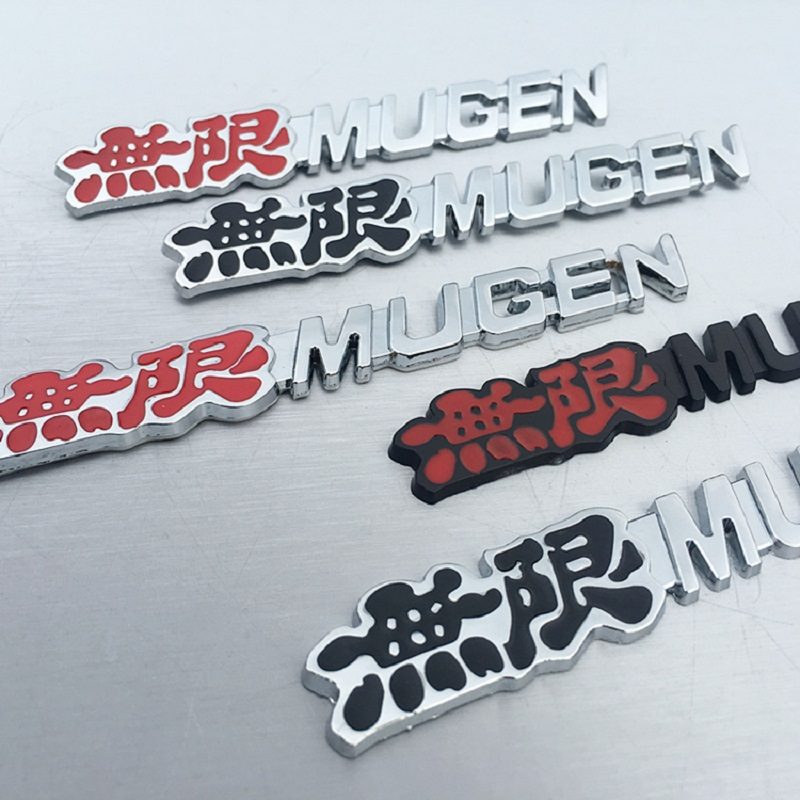 Image 3 - Mugen Power Car Sticker Emblem Rear Badge Aluminum Chrome Decal Car Styling For Car Trunk For Honda Civic Accord CRV-in Car Stickers from Automobiles & Motorcycles