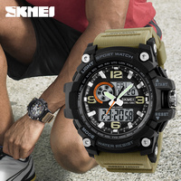 SKMEI Fashion Casual Sports Watches Brand Men 50M Waterproof Analog Quartz 12 24 Hour Chronograph Watch