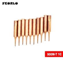 FEORLO 900M-T-1C Diamagnetic copper soldering iron tip Lead-free Solder 933.376.907.913.951,898D,852D+ Soldering Station