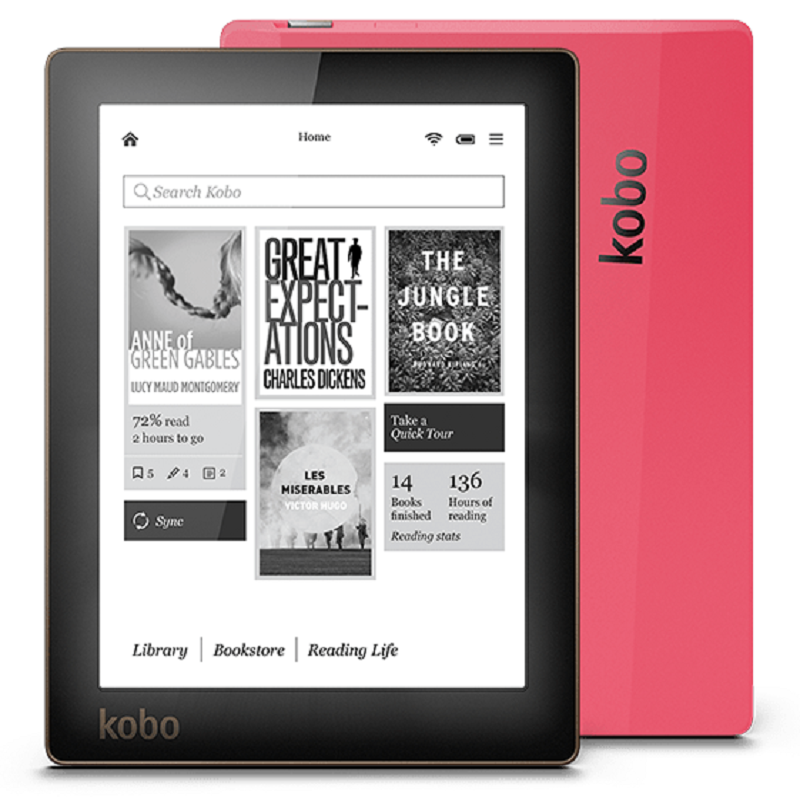 e-book Kobo Aura ebook reader e-ink 6 inch resolution 1024×758 N514 Built-in Front Light e Book Reader WiFi 4GB Memory