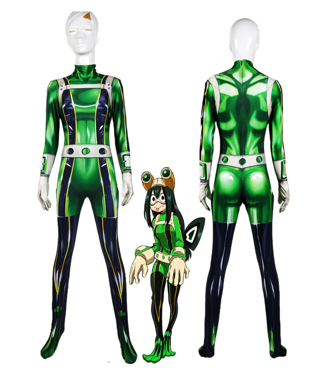 Boku no Hero Academia Froppy Cosplay costume Pro Hero Tsuyu Asui My Hero Academia Zentai Bodysuit Halloween Party suit