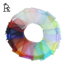 RE Organza Bag Wedding Decoration 50pcs/lot 20*30cm Favor Jewelry Packaging Gifts Pouch For Party Candy Bag