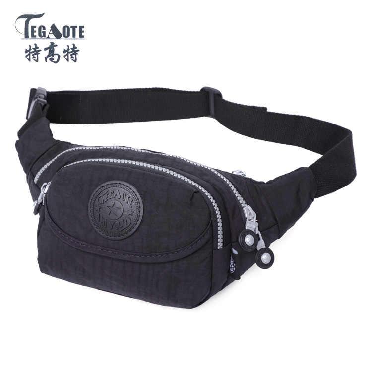 TEGAOTE 2016 Sacos de Homens e Mulheres À Prova D' Água Bolsa de Cintura Molle Pacote de Cintura Casuais Saco Da Cintura de nylon de Trabalho Pequenos sacos 1531