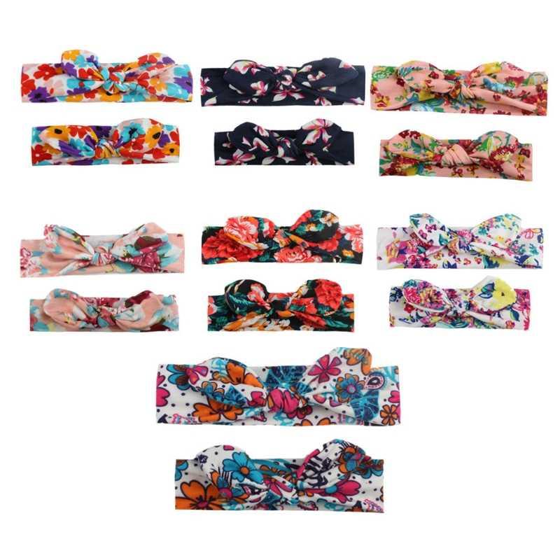 Детская Женская головная повязка в богемном стиле с бантиком для мамы и дочки, семейные вечерние повязки для волос