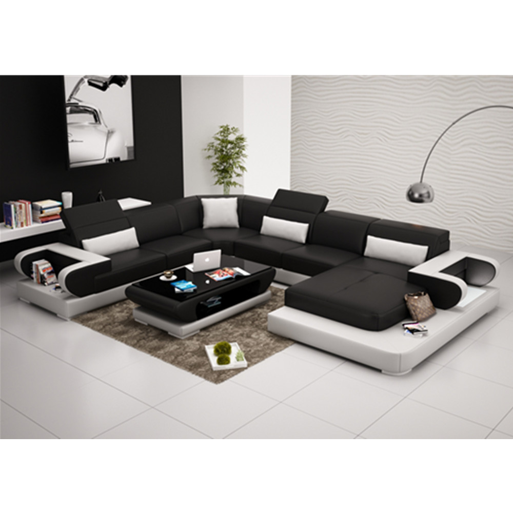 G8002 american style u shaped modular furniture leather - American style mobel ...
