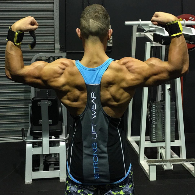 2018 New Men Tank top Gyms Workout Fitness Bodybuilding sleeveless shirt Male Cotton clothing Casual Singlet vest Undershirt 2