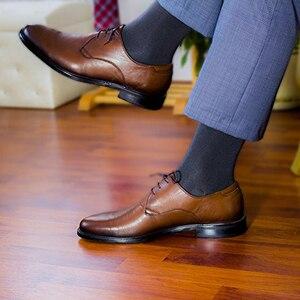 Image 3 - Match Up  Men Bamboo Black Socks Breathable Business Dress Socks (6 Pairs/Lot)