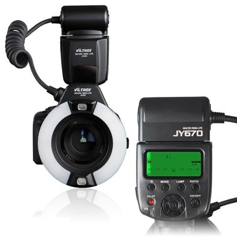 JY 670 Kamera Macro Close Up Ring Licht Flash Für DSLR Canon Nikon Pentax Olymp Kostenloser Versand-in Blitze aus Verbraucherelektronik bei AliExpress - 11.11_Doppel-11Tag der Singles 1