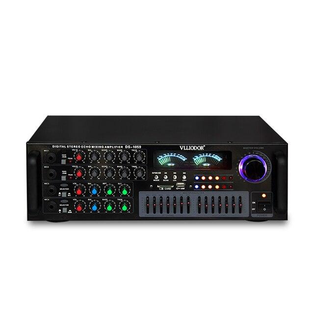 DS-1059 100 W + 100 W 2.0 sans fil Bluetooth KTV KaraOK accueil amplificateur audio prend en charge la musique sans perte USB/WAV avec double égaliseur 7