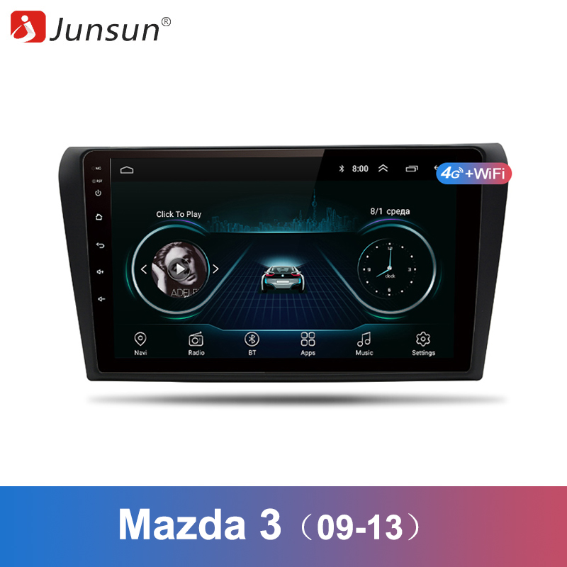 Junsun 2 Din Multimedia Video Player Android 8 1 GPS Navigation Radio WIFI OBD2 For Mazda