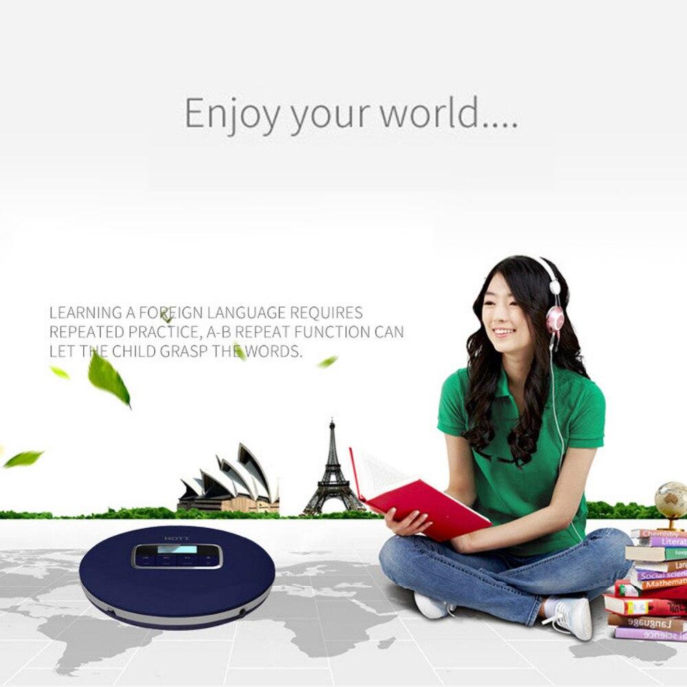 Image 5 - Caliente reproductor de CD portátil con pantalla LCD auriculares  Jack Anti Slip a prueba de golpes a prueba de protección compacto CD de  música disco reproductor WalkmanReproductor de CD