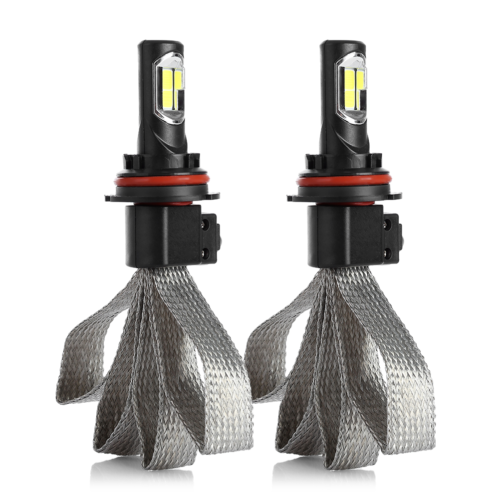 S7 9004 72 Вт 8000 лм 2 шт. светодиодный автомобильный головной светильник 6000K Автомобильная передняя лампа автомобильный светильник s лампы белый ...