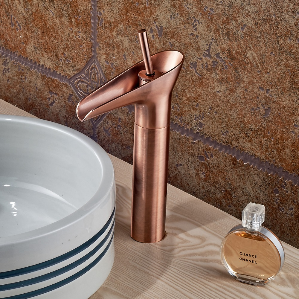 Basin Facuet Red Antique Copper Deck Mounted Bathroom Faucet Single Handle  Mixer Tap In Basin Faucets From Home Improvement On Aliexpress.com |  Alibaba ...
