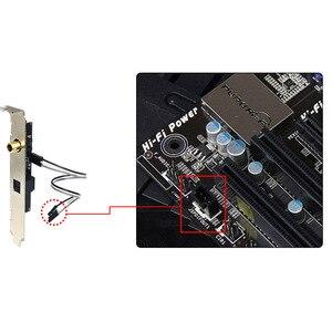 Image 5 - Saída de áudio digital SPDIF RCA PARA FORA do Suporte de Cabo Placa mainboard para ASUS Gigabyte MSI Motherboard