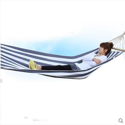 200*80cm bearing 150kg outdoor camping swing thickening large casual canvas hammock200*80cm bearing 150kg outdoor camping swing thickening large casual canvas hammock