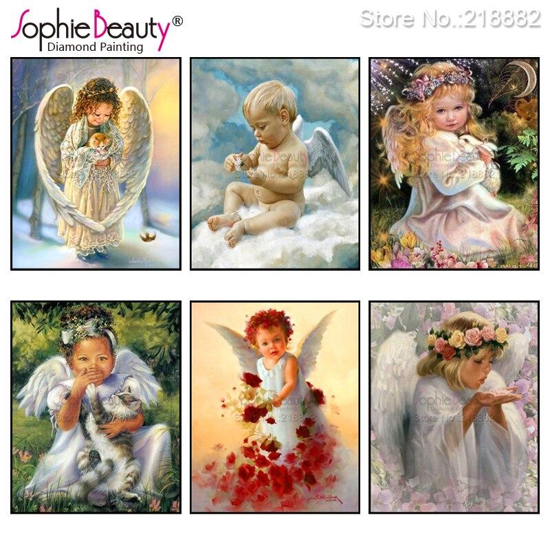 Sophie belleza Diy diamante pintura Cruz puntada linda chica Ángel bordado artesanal de resina de costura mosaico set artístico