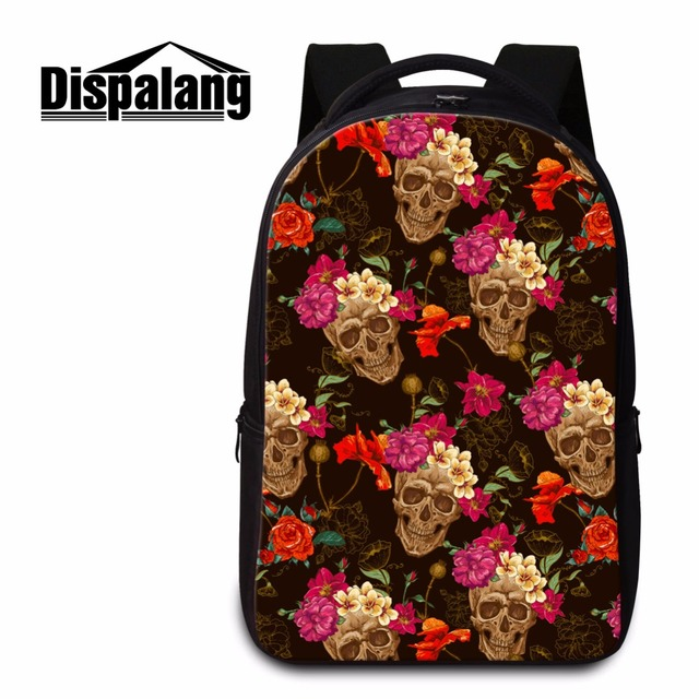 Dispalang Skull Backpack for College Students Laptop Back pack for Girls  Unique School Bags Shoulder Bookbag c64691634e2f0