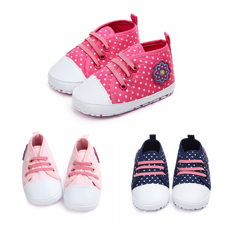 Mother & Kids Toddler Baby Girls Spring Autumn Polka Dot Shoes For Kids First Walker Cotton Anti-slip Soft Sole Casual Walking Crib Shoes Making Things Convenient For The People
