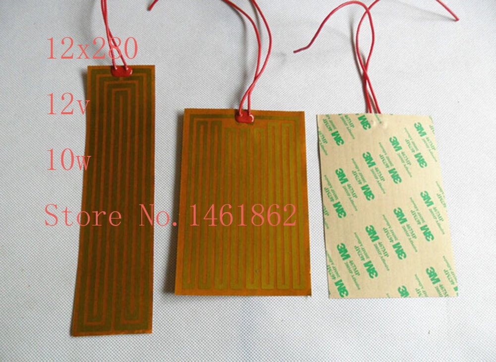12x280 12v10w element heating PI film polyimide heater heat rubber electric flexible heated bad printer heating pad oil dia 25mm 12v 5w element heating pi film polyimide heater heat rubber electric flexible heated bad 3d printing beauty equipment