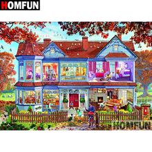 HOMFUN 5D DIY Diamond Painting Full Square/Round Drill House scenery Embroidery Cross Stitch Mosaic Home Decor Gift A08285 homfun 5d diy diamond painting full square round drill house scenery embroidery cross stitch gift home decor gift a08417