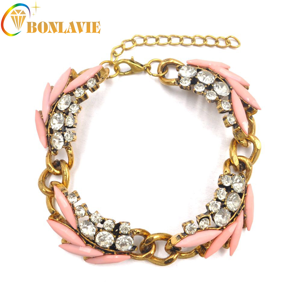 2017 new-Bracelets new arrival fashion Popular Shallow orange hand ornaments leaf bracelets vintage Bracelets