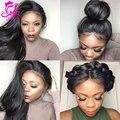 Melhor Cheia Do Laço Perucas de Cabelo Humano Para As Mulheres Negras Brasileira Completa Parte Dianteira do laço Perucas Com Cabelo Do Bebê Glueless Parte Dianteira Do Laço Do Cabelo Humano perucas