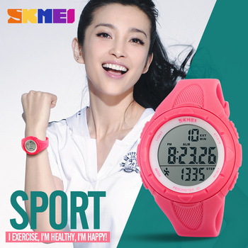 SKMEI Popular Brand Watches Women Fashion Digital LED Watch Sport Pedometer Montre Femme Female Clock Ladies Wristwatch New skmei brand pedometer sport watch men digital multifunction casual fitness led watches fashion men s outdoor wristwatch relogio