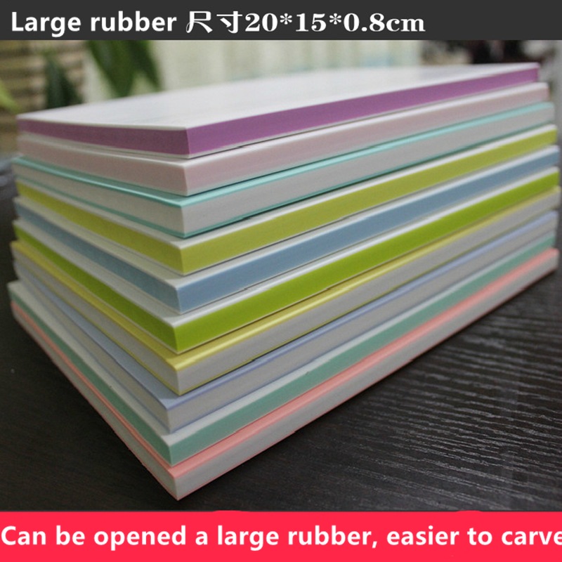 Large 20* 15 * 0.8cm double-sided can be exposed carved rubber sheet / three-layer rubber sand brick rubber carving scrapbook бумага для выпечки three can 10 15
