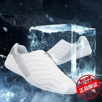 Chaussures Taekwondo chaussures TKD chaussures de Sport d'entraînement de karaté chaussures de protection de kickboxing blanc WTF pour enfant adulte décontracté confortable