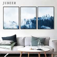 Scandinavian Style Canvas Painting Forest Posters on The Wall Modern Landscape Posters and Prints Cuadros Decoracion Salon