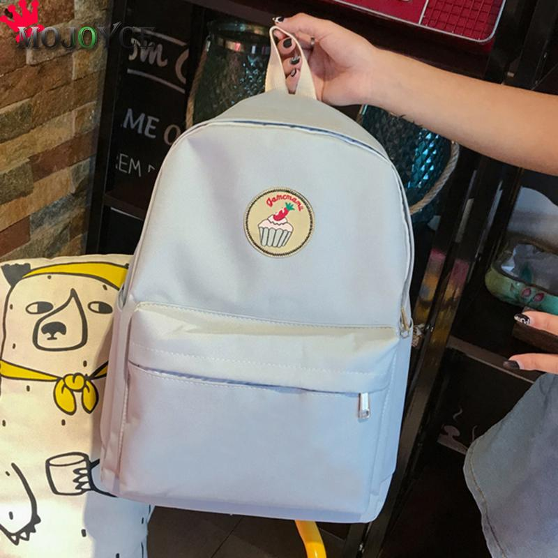 ed68640562 MOJOYCE Cheap Mochila Black Backpack Canvas Women Backpack SchoolBags For Teenagers  Couple Backpacks Casual 2 ColorS Durable-in Backpacks from Luggage ...
