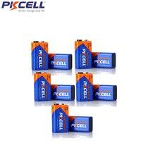 10 шт. щелочная батарея PKCEL 6LR61 9 в 1604A 6AM6 MN1604 522 сухие батареи для детектора дыма газовые плиты водонагреватель микрофон